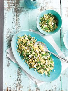 Orzo Pasta with Grilled Asparagus