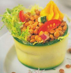 Lentejas en ensalada con espuma de sobra ... by www.vinosyrecetas.com