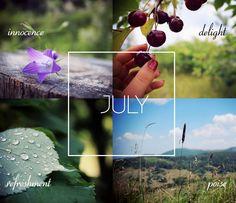 Hello July! #seasons #month #summer
