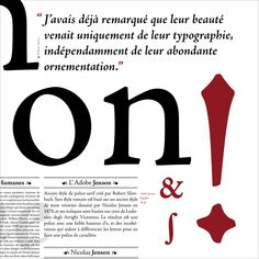 Robert Slimbach Adobe Jenson Pro 1995 2000 Poster by Caroline Grimprel Anselme Calabrese 2014e