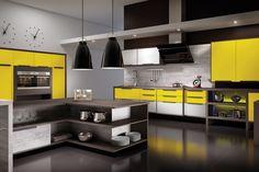 Cor quente na cozinha estimula a fome e o humor!