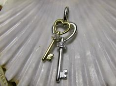 Give her the key to your heart with this 14k Diamond Key Pendant Charm  EverythingIOwn http://etsy.me/106Olj7  @Etsy