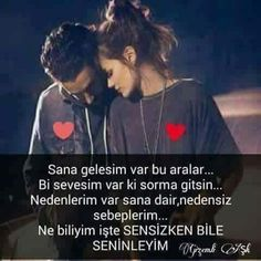 """SENSİZKEN BİLE SENİNLEYİM"" Love You Gif, Cool Words, Wisdom, Messages, Cover, Quotes, Karma, Nice, Check"
