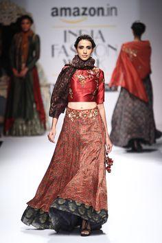 By designer Joy Mitra. Shop for your wedding trousseau, with a personal shopper & stylist in India - Bridelan, visit our website www.bridelan.com #Bridelan #bridelanindia #JoyMitra #amazonindiafashionweek #amazonfashionweek2016 #autumnwinter