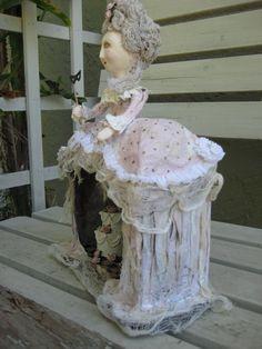 """""""Marie"""" Goose...side view...papier-mache figure by: M.D. Tereck"""