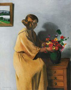 Le bouquet (1922), by Félix Vallotton (1865-1925).
