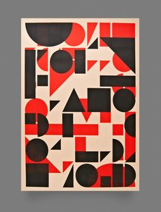 Image of Shape Print — Red and Black