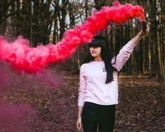 Smoke, smoke bomb, forest, idea, bomb, shoot, shoot idea, photo idea, style, park, fall, autumn