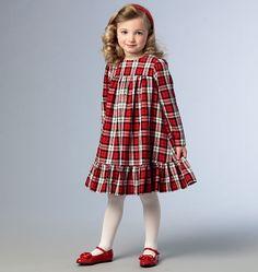 V9042 Girls' Dress   Easy