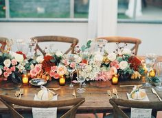 Wine Colored Wedding Tablescape