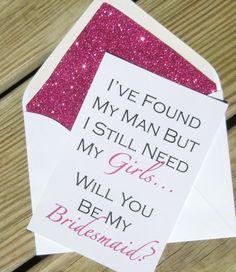 Be My Bridesmaid Cards // Fuchsia Glitter by PinkChampagnePaper @Tara Harmon Harmon Sutton
