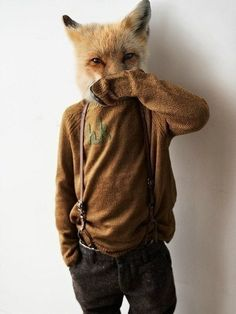 this is what i think i look like when i wear my fox hat, except in a cute little sequin dress ;)