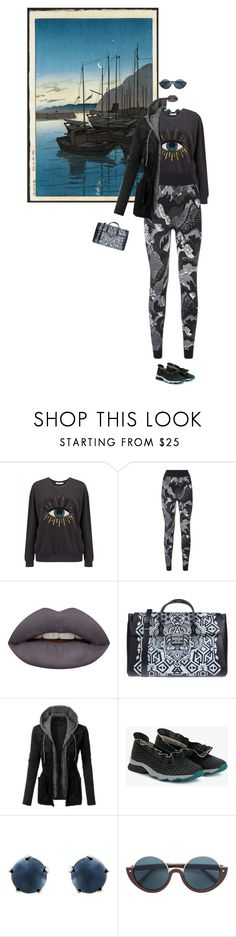 """""""Untitled #70"""" by yee-yan ❤ liked on Polyvore featuring South Parade, Sweaty Betty, Huda Beauty, Furla, LE3NO, Fendi and Lulu Frost"""
