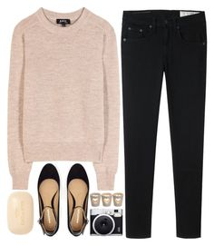 """""""105. DEDICATED TO KIMBERLY"""" by dear-maria-count-me-in ❤ liked on Polyvore featuring A.P.C., rag & bone, Sisley Paris, Fuji and CO"""
