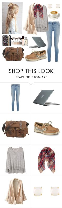 """""""Coffee Shop"""" by isabel-harsh ❤ liked on Polyvore featuring Givenchy, Speck, Sperry, MANGO, Humble Chic, WithChic, Kate Spade and country"""