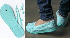 De gehaakte slippers zijn ideaal voor de zomer: ze laten lucht passeren en houden de voeten aangenaam koel en droog , verbeteren de grip van de voet, en verlichten de spanning van de tenen en ondersteunen…