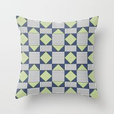 Feel the energy radiating from this playful angled pattern. Throw Pillow.