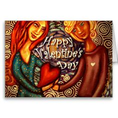 Shop Couple Holding Heart — Happy Valentine's Day Holiday Card created by cheriedirksen. Valentines Day Holiday, Happy Valentines Day Card, Holiday Cards, Valentine's Day Greeting Cards, Self Empowerment, African, Couples, Heart, Artist