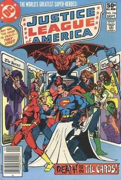 Justice League America. Death is in the cards