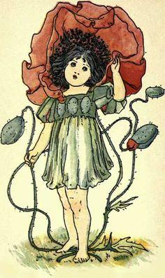 Poppy - Victorian Girl as a Poppy