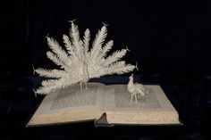 """""""The Courtship of Animals"""" Book Sculpture by Emma Taylor (Ely, England)"""