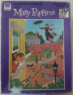 Vintage Mary Poppins Jigsaw Puzzle - 100 large pieces - Age 5 and up - Made in USA - Walt Disney Corporation Disney Puzzles, Picture Puzzles, Mary Poppins, Vintage Disney, Disney Stuff, Childhood Memories, Walt Disney, Fun Stuff, Jigsaw Puzzles