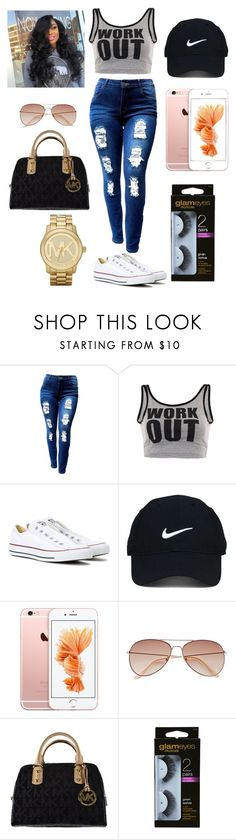 """""""Let Go!!!!!!"""" by angelicchoice-1 on Polyvore featuring Converse, Nike Golf, H&M and Michael Kors"""