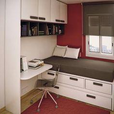 Hogar diez: Habitaciones Juveniles Cómo aprovechar el espacio en una habitación…