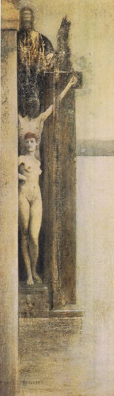 Ein Zauber (a Spell) Fernand Khnopff Art Nouveau, Rose Croix, Figurative Kunst, Classic Artwork, Grisaille, Art Graphique, Erotic Art, Contemporary Artists, Impressionism