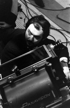 Stanley Kubrick on the set of 2001: A Space Odyssey.