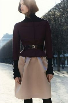 #dior #silhouette #purple #color #jacket #skirt