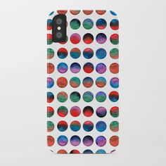 Colorful watercolor dots iPhone Case by schimoni_art