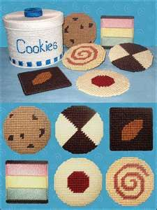 Plastic Canvas Cookie Jar Coaster Set for those of us who eat way to many sweets :>)
