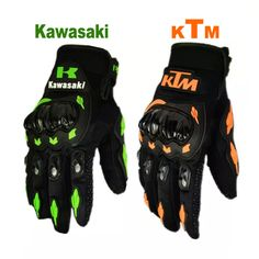 Ktm motosiklet bisiklet eldiven retro kawasaki moto yarış eldiven erkek motocross tam parmak eldiven m/l/xl/xxl toptan ve perakende
