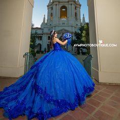 Sweet 16 Dresses Blue, Blue Sparkly Dress, Royal Blue Dresses, Blue Wedding Dresses, 15 Anos Dresses, Xv Dresses, Quince Dresses, Ball Gown Dresses, Mexican Quinceanera Dresses