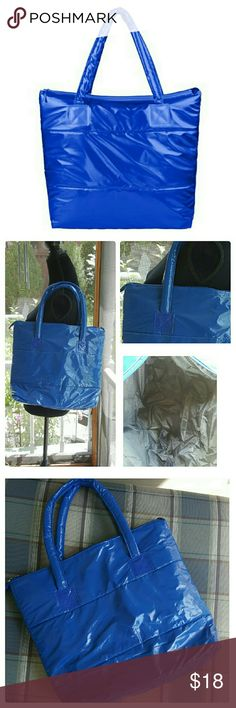 JUST ARRIVED: Blue Space Bale Tote NWOT Stylish waterproof tote for winter.  See pic # 4 for details. Bags Totes