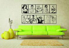 Large A2 DC Comics Injustice League Joker Cheetah Lex Luthor Sinestro Professor Zoom Wall Art Vinyl Sticker Home Decor Living Room Bedroom