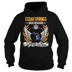 [Tshirt Illustration,Tshirt Recycle] Cedar Springs, Michigan - Its Where My Story Begins. ORDER HERE => https://www.sunfrog.com/States/Cedar-Springs-Michigan--Its-Where-My-Story-Begins-102943302-Black-Hoodie.html?id=68278