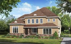 The Monterey features 5 bedrooms, 4 baths and a wide array of floorplan options including optional deluxe gourmet kitchen with extended breakfast area, optional study, bonus room with bath, optional screened porch and 3-car garage option