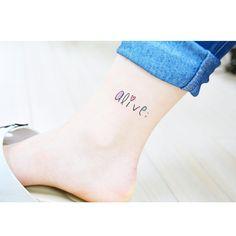 alive; Tattoo by tattooist_banul