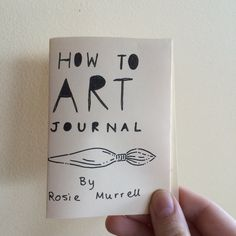 How To Art Journal zine by Drawingrosie on Etsy