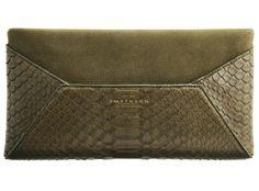 Smythson Eliot Anniversary envelope clutch #Python #Nubuck #Cards #Luxury #British #Exotic #leather