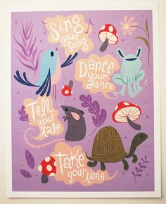 Animal Advice print by Lauren Gregg