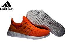 Men s Adidas Ultra Boost X Yeezy Boost Running Shoes Orange Crimson 3e2a60728d