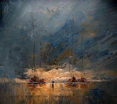 Justyna Kopania Des peintures de paysages marins au couteau