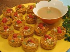 Sweet Potato Puffs/Asian Mustard Sauce