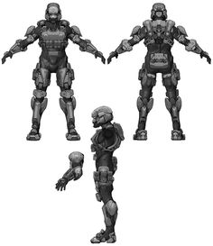 Halo 4 Art & Pictures, Spartan Soldier Armor