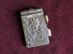 French Antique Edelweiss bal or dance card chatelaine note pad on Etsy, $78.00
