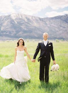 gorgeous bride&groom at lake tahoe