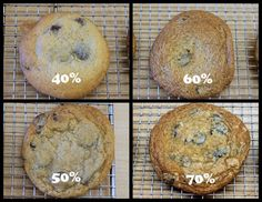 Pastry School Week 2 - Cookies Cookies and more Cookies (choc chip flat/puffy)